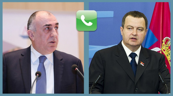 Azerbaijani FM holds phone talk with Serbian counterpart