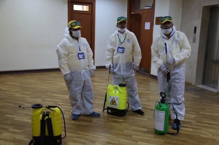 AMEA-nın əsas binası dezinfeksiya edilib
