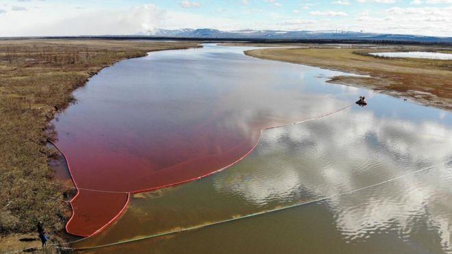 Arctic Circle oil spill: Russian prosecutors order checks at permafrost sites