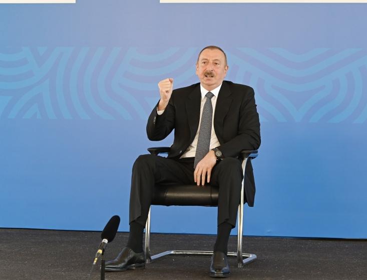 """İlham Əliyev:    """"Biz heç kimdən yardım istəmirik"""""""