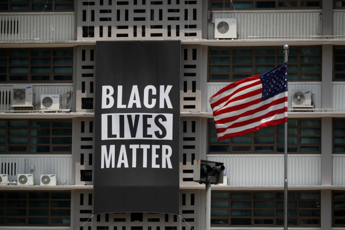 U.S. embassy in Seoul displays Black Lives Matter banner in support of anti-racism protests