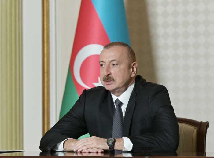 """Videoconference held between President Ilham Aliyev and Vice President of """"Microsoft"""""""