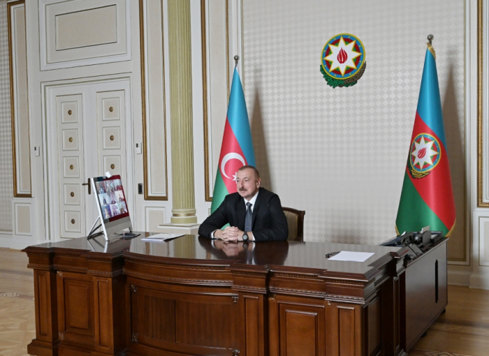 Video conference held between President Ilham Aliyev and representatives of World Bank