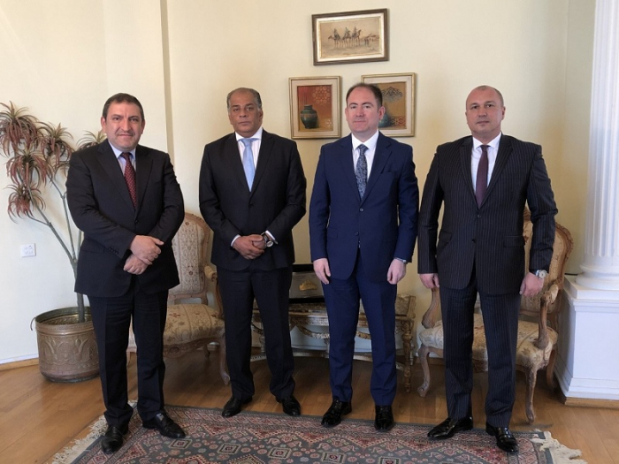 Egyptian ambassador met with his Azerbaijani counterpart