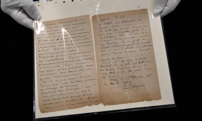 Van Gogh and Gauguin letter about brothel visit sells for €210,000 -  PHOTO