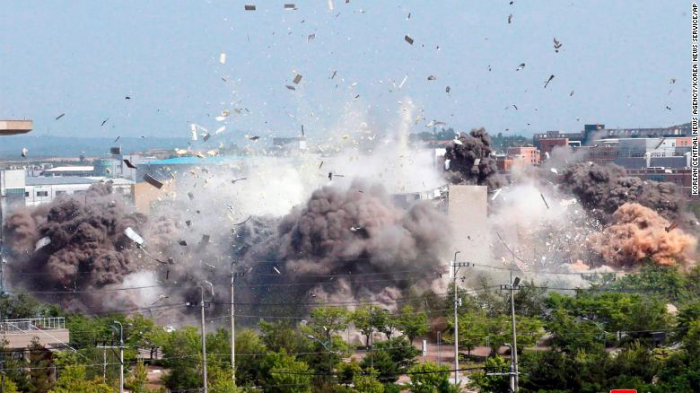 North Korea blows up its joint liaison office with South Korea -  NO COMMENT