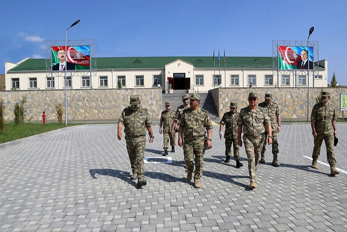 Azerbaijani defense minister attends opening of another military unit in frontline zone - VIDEO