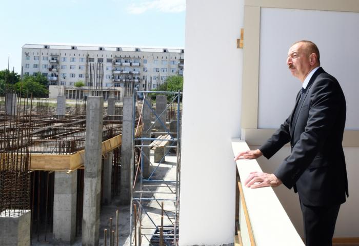 İlham Əliyev Gəncə İdman Sarayının tikintisi ilə maraqlandı -  YENİLƏNİB