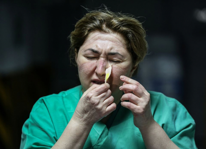 "In pictures:  Azerbaijani health workers battling ""invisible enemy"""