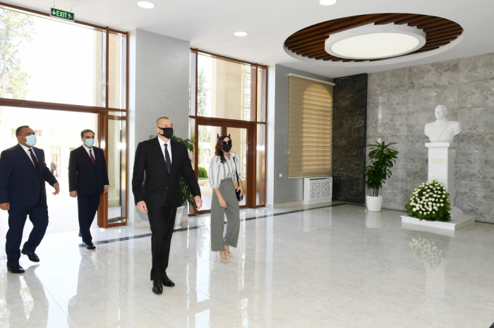 Azerbaijani president attend opening of new educational block of Azerbaijan State Agrarian University -  PHOTOS