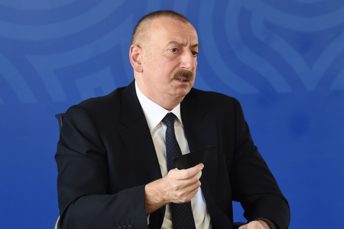 I wear medical mask in all enclosed spaces - President Aliyev