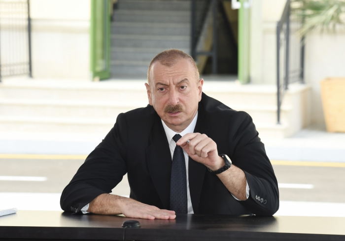 President Aliyev: Armenia pursues policy of illegal settlement in occupied Azerbaijani territories