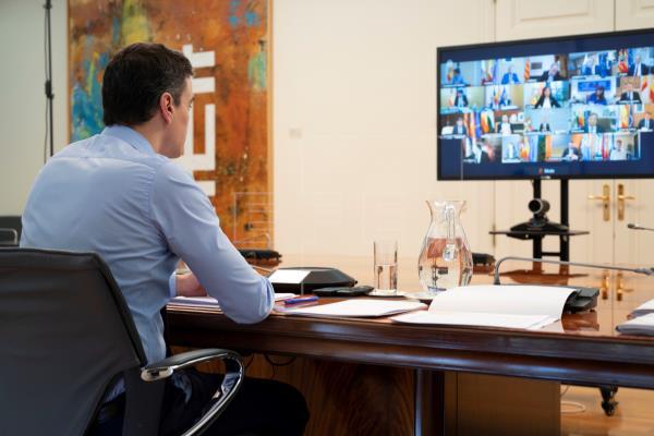 Sánchez se reúne por videoconferencia con la Ejecutiva del PSOE