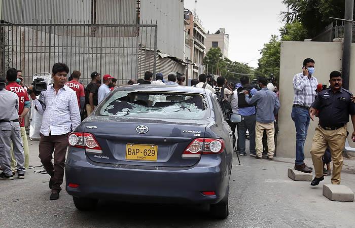 Un grupo armado ataca un edificio de la bolsa en Pakistán