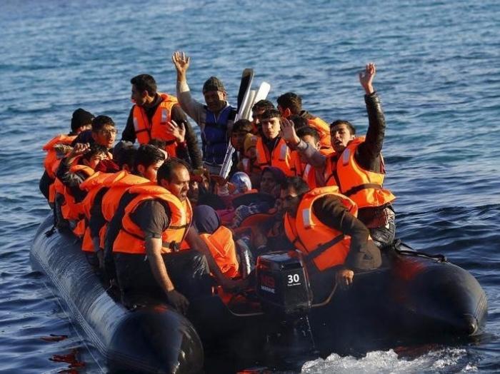 Turkish coastguard rescues 35 migrants from half-sunken boat