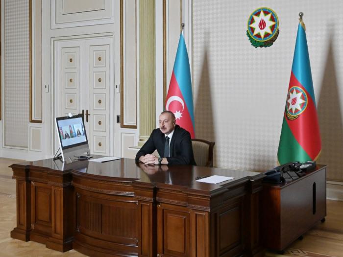 Une visioconférence se tient entre Ilham Aliyev et le secrétaire général de l'OMT -   PHOTOS