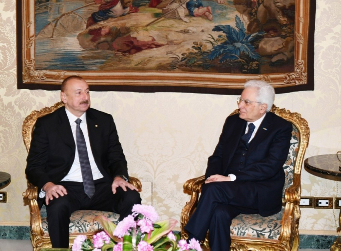 Ilham Aliyev a envoyé une lettre à son homologue italien