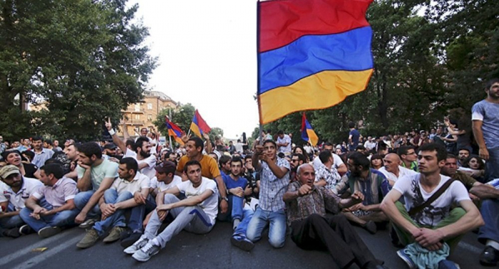Protest staged outside Armenia parliament