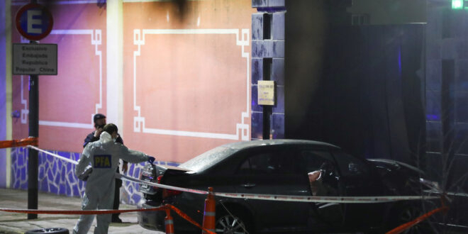 Man rams car into Chinese embassy in Buenos Aires