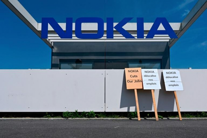 Nokia: manifestation devant le site de Nozay pour dire «non» aux suppressions de postes