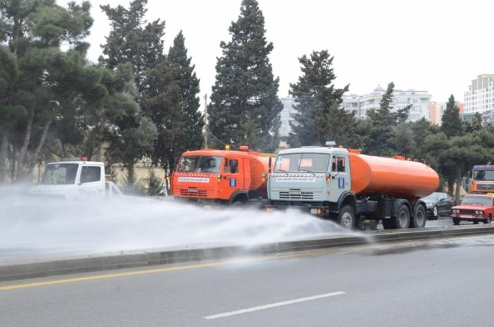 Trabajos de desinfección intensivos se llevarán a cabo mañana en Bakú