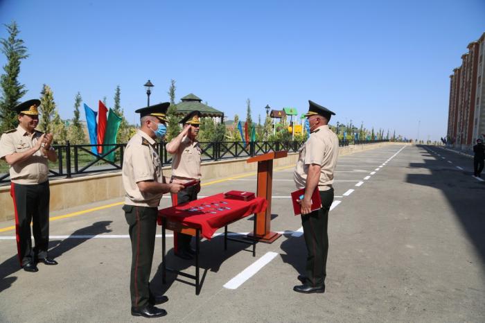 Nazir yeni hərbi şəhərcik kompleksinin açılışında iştirak edib -  FOTOLAR