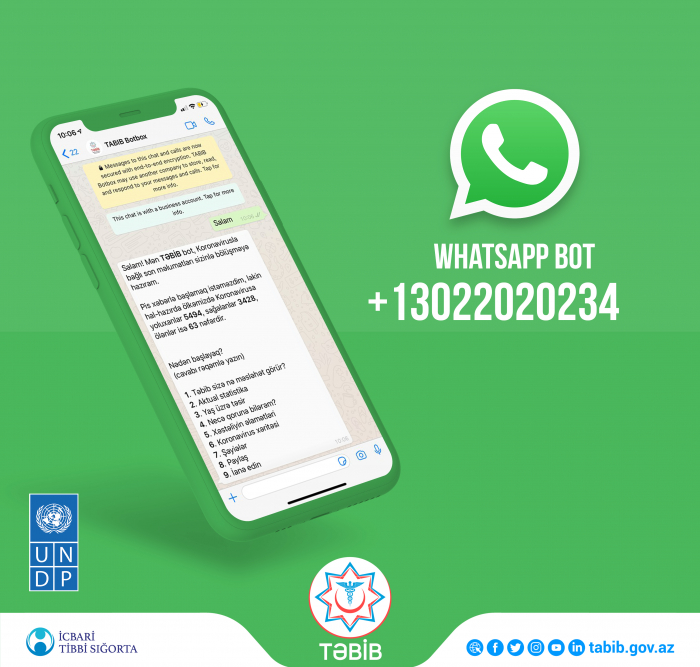 WhatsApp bot launched by TABIB and UNDP to keep Azerbaijan