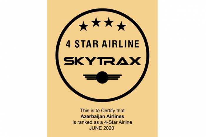 Azerbaijan Airlines once again confirms its high Skytrax rating