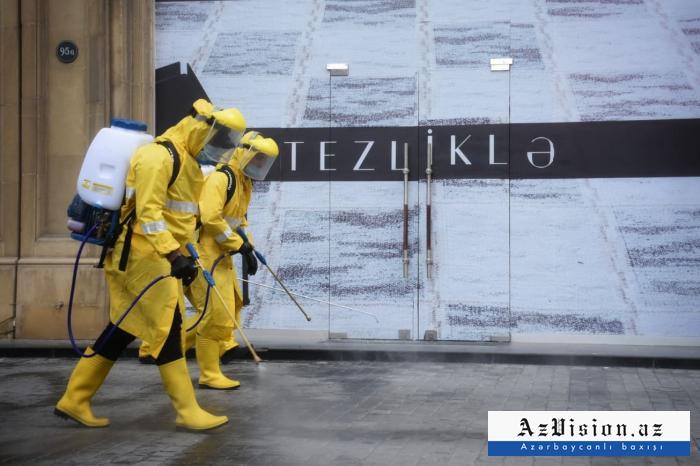 Bakıda 2 min nəfər dezinfeksiya işlərinə cəlb olunub