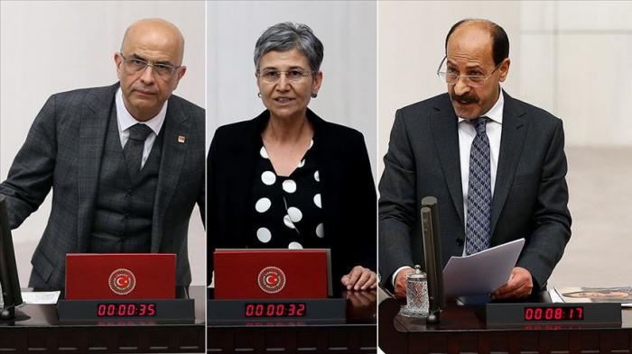 Türkiyədə 3 deputatın səlahiyyətlərinə xitam verildi