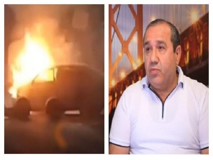 Azərbaycanlı Rusiyada yanan maşından gənci xilas etdi -  VİDEO