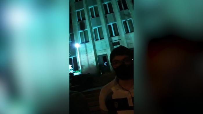 İrəvanda gecə etiraz aksiyası keçirilib -  VİDEO