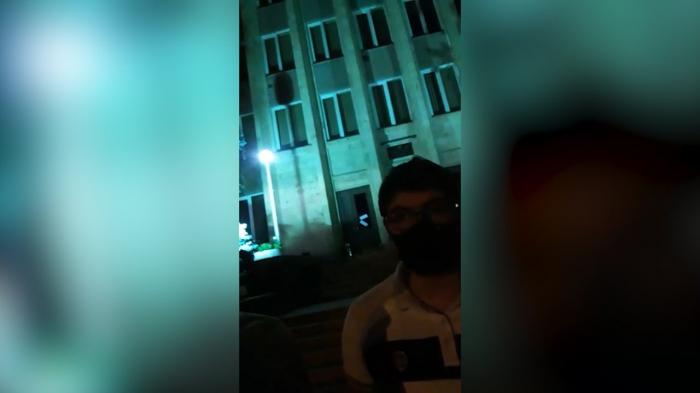 Protest in Eriwan in der Nacht -   VIDEO