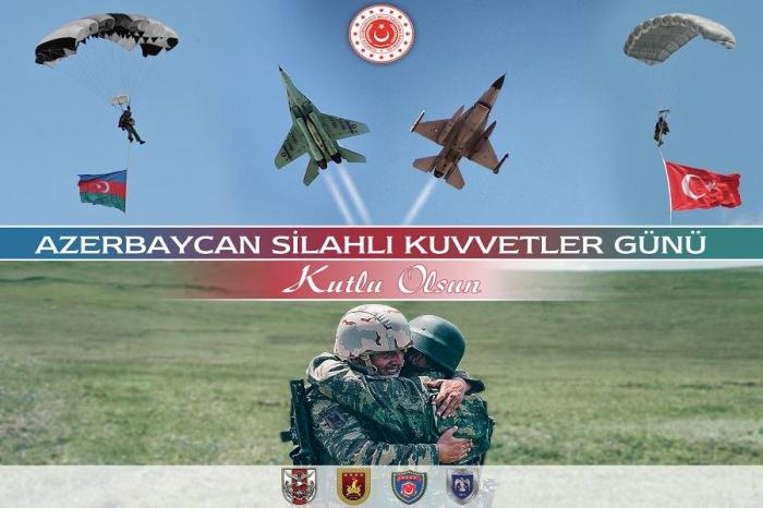 Türkiyənin Müdafiə Nazirliyindən Azərbaycana təbrik