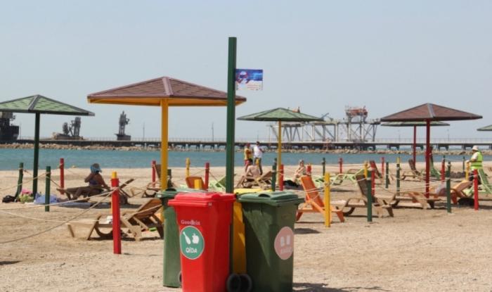 Exemplary public beach launched in Baku