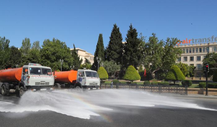 Bakıda 544 küçə dezinfeksiya edildi
