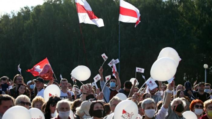 Opposition demonstriert in Minsk