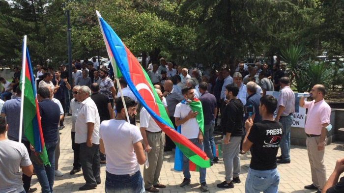 Marneulidə Azərbaycana dəstək aksiyası keçirildi