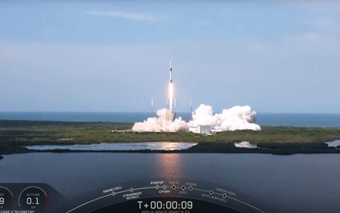 Falcon-9-Rakete bringt neuesten GPS-Satelliten in den Orbit –   Video