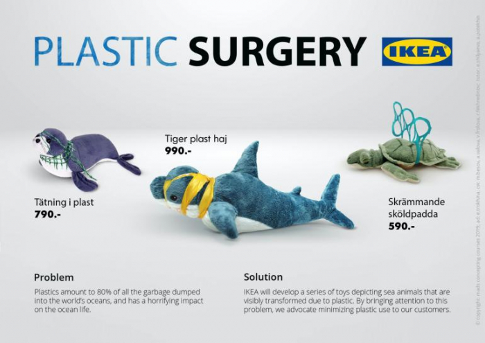 Des peluches IKEA pour sensibiliser à la pollution plastique