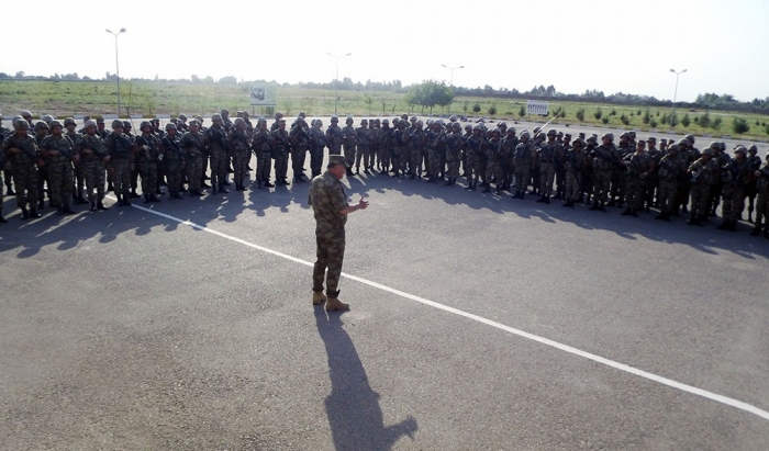 Azerbaijan checks combat, moral-psychological training of military personnel on frontline