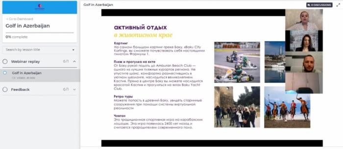 """Más de 300 extranjeros recibieron el estatus de """"Experto en turismo azerbaiyano"""""""