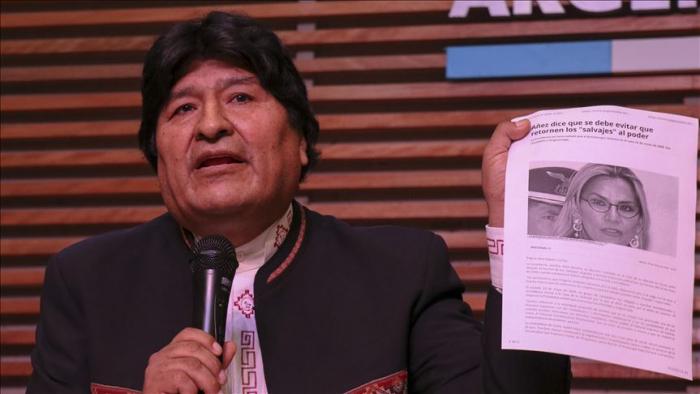 Evo Morales:   'La Fiscalía de La Paz pretende imputarme por terrorismo con un audio alterado'