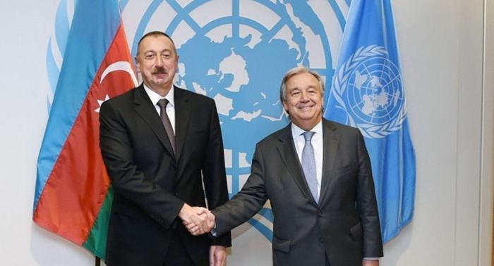 UN chief expresses support for Azerbaijani president's initiative