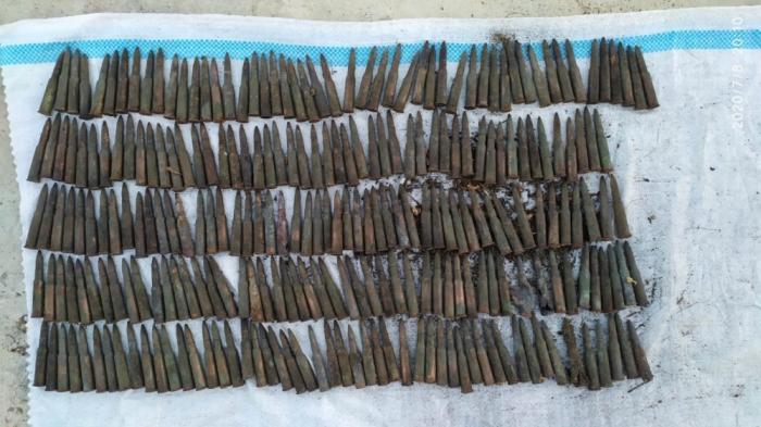 Sumqayıtda 250 ədəd patron tapıldı