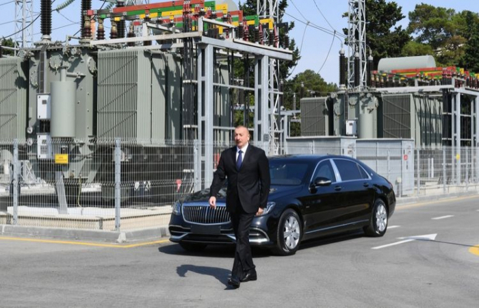President Ilham Aliyev attends opening of the reconstructed substation in Baku