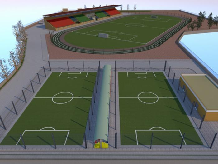 Şamaxıda stadion inşa olunur
