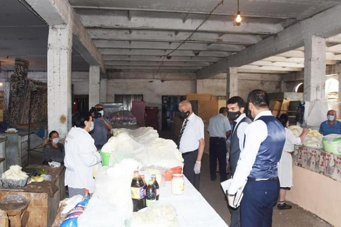 AQTA Ağstafanın mərkəzi bazarını yoxladı