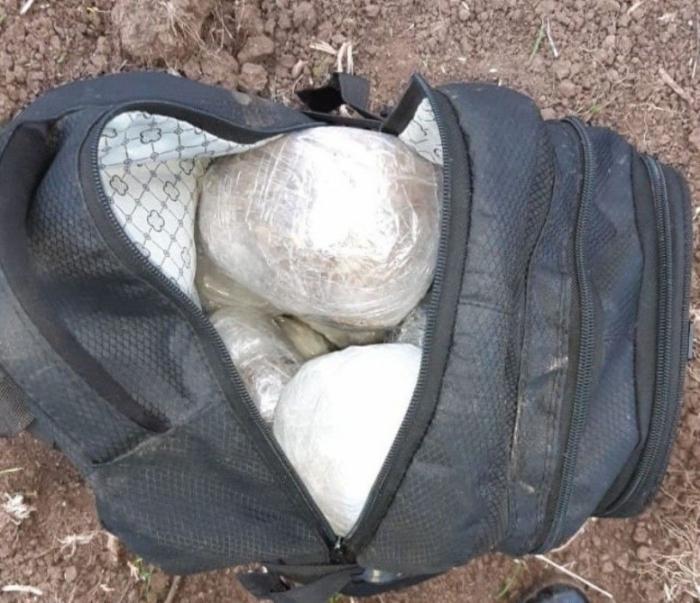 Üçtəpədə içində 8 kq narkotik olan çantalar tapıldı