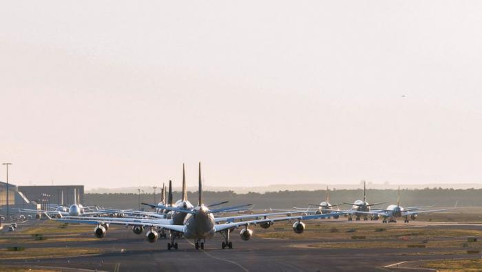 Rund 53 Prozent weniger Jets in der Luft